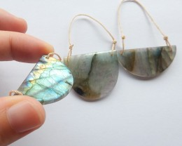 93.5ct Natural labradorite jewelry set customized jewelry  (18091496)