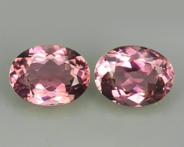 2.55 CTS SWEET PINK NATURAL TOURMAILNE OVAL 2 PCS