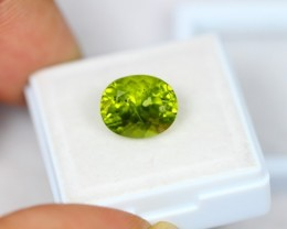 5.54Ct Natural Green Peridot Oval Cut Lot LZB452