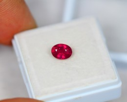 1.13ct Blood Red Color Ruby Oval Cut Lot GW2489