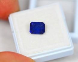 3.13ct Blue Sapphire Octagon Cut Lot V2463