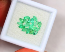 1.30ct Zambia Green Emerald Marquise Cut Lot S39