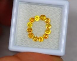 1.79ct Yellow Sapphire Round Cut Mix Size Lot V2473