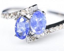 10.95 Crt Diamond and Tanzanite Ring  (R38)