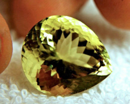 27.78 Carat Natural IF/VVS1 Brazil Lemon Quartz - Lovely