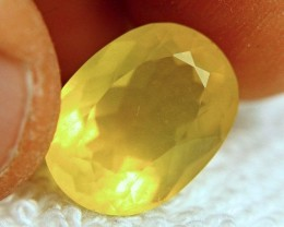 8.06 Carat Virant Yellow Mexican Fire Opal