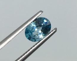 1.23 Carat VVS Zircon Caribbean Blue - Exquisite Flash - Quality !