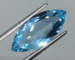 8.15 Carat VVS Topaz Swiss Blue Marquise - Brazilian Beauty !