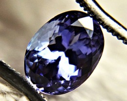 0.91 ct Gorgeous Top Color IF Natural Tanzanite