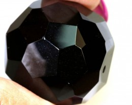 130 CTS BLACK ONYX BEAD FACETED NP-2447