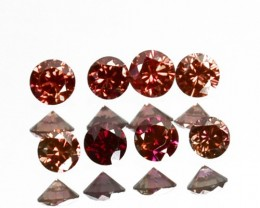 0.16 Cts Natural Brownish Pink Diamond 7 Pcs Round Cut Africa