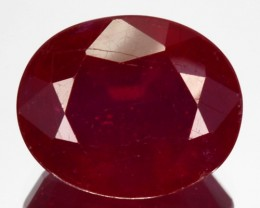 5.59 Cts Pigeon Blood Red Composite Ruby Oval Cut Mozambique