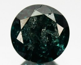 0.46 Cts Natural Deep Blue Diamond Round Cut Africa