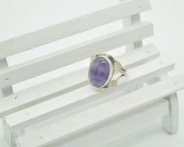 NATURAL UNTREATED AMETHYST  RING 925 STERLING SILVER JE1085