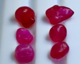 13.30  Ct ~ Natural &  Heated Glass Filling Pink Ruby Rough Lot
