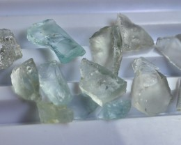 44.00 CT Natural - Unheated Sky Blue Aquamarine Rough Crystal Lot
