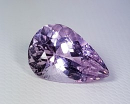 """4.72 cts """"Collector Gem"""" Awesome Pear Cut Natural Pink Kunzite"""