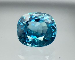 4.07 Cts Blue Zircon Awesome Color ~ Cambodia AS10