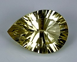 10.50Crt Lemon Quartz Special cut  Best Grade Gemstones JI103