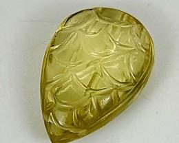 10.20Crt Lemon Quartz Special Cut  Best Grade Gemstones JI103