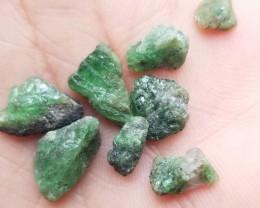 8 PCS GREEN GARNET ROUGH PARCEL Natural+Untreated VA511