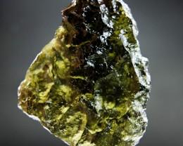 Glossy 100% genuine Moldavite CERTIFIED