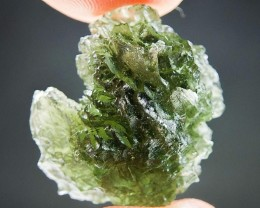 Moldavite quality A+/++ with Light green color with CERTIFICATE