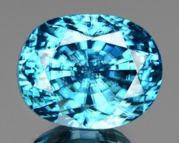 12.80 CT BLUE ZIRCON WITH SPARKLING LUSTER GIL CERTIFIED