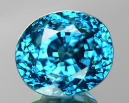 10.90 CT BLUE ZIRCON TOP LUSTER GIL CERTIFIED