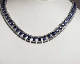 31.31tcw Sapphire Necklace