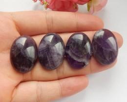 114ct Natural amethyst cabochon beads 5pcs (18091539)