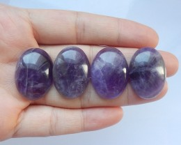 93ct Natural amethyst cabochon beads customized jewelry  (18091533)
