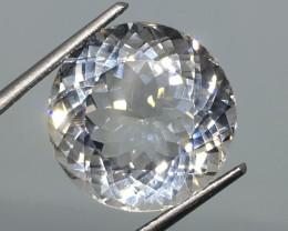 14.58 Carat VVS Topaz Diamond White - Untreated - Spectacular Sparkle !