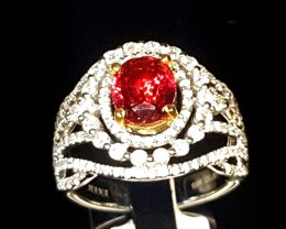 1.87ct Burma Ruby Ring