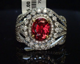 1.87ct Burma Ruby Ring