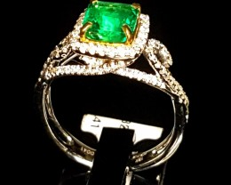 1.32ct Emerald Ring