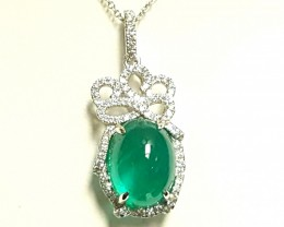 6.25 Colombian Emerald Pendent