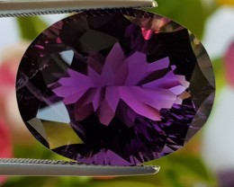 27.79cts Amethyst, Concave Cut, GIANT stone