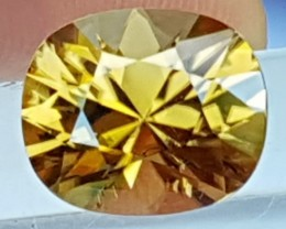 5.76cts, Yellow Zircon,  Precision Cut, Clean, Callbrated