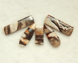 76ct Natural wood fossil jewelry beads wholesale  jewelry  (18091500)