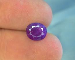 Certified 1.940 ct Untreated Pink Corundum Kashmir Sapphire~$400