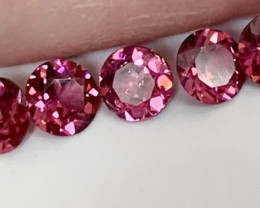 5 RUBY CRIMSON UMBALITE GARNETS PARCEL 4.50mm each