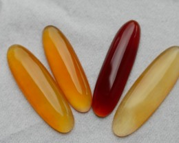21.55 CRT NATURAL INDONESIAN PARCEL CABS CARNELIAN CHALCEDONY