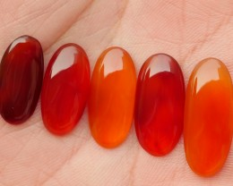 21.40 CRT NATURAL INDONESIAN PARCEL CABS CARNELIAN CHALCEDONY