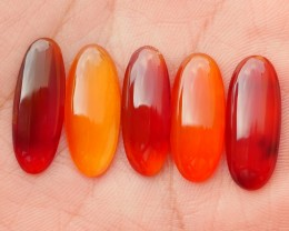19.35 CRT NATURAL INDONESIAN PARCEL CABS CARNELIAN CHALCEDONY