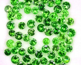 2.00 Cts Natural Green Tsavorite Garnet 2.2 - 1.5 mm Round Parcel 44Pcs