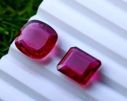 2  Pcs 10.50 Ct Natural - Unheated Rubelite Tourmaline Gemstone