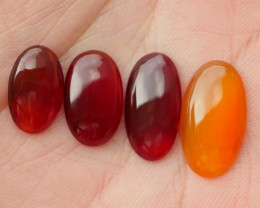 12.30 CRT NATURAL INDONESIAN PARCEL CABS CARNELIAN CHALCEDONY