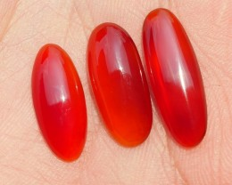 9.80 CRT NATURAL INDONESIAN PARCEL CABS CARNELIAN CHALCEDONY