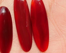 8.45 CRT NATURAL INDONESIAN PARCEL CABS CARNELIAN CHALCEDONY